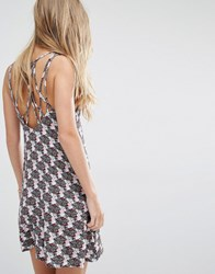 Pull And Bear Pullandbear Cami Dress With Caged Back Multi