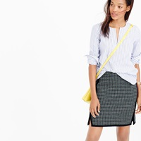 J.Crew Double Notch Mini Skirt In Houndstooth