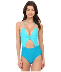 6 Shore Road Coco Floral Divine One Piece Teal Women's Swimsuits One Piece Blue