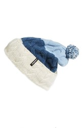 Women's Patagonia Pom Beanie Blue Glacier Stripe Glass Blue