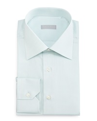 Stefano Ricci Tonal Striped Woven Dress Shirt Mint