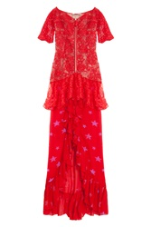 Alessandra Rich Lk30 Lace Gown W Star