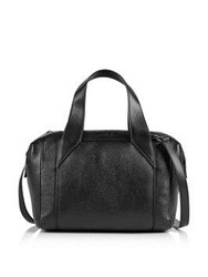 Just Cavalli Laminated Tumbled Leather Tote Bag Black