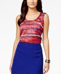 Kasper Sleeveless Graphic Print Top