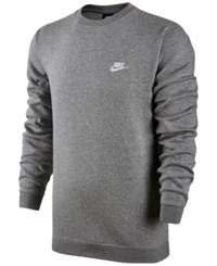 Nike Men's Crewneck Fleece Sweatshirt Dark Grey Heather