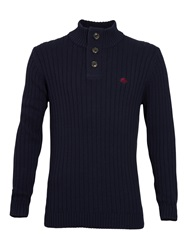 Raging Bull Big And Tall Funnel Neck Sweater Navy