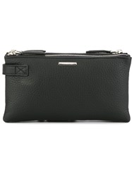 Ermenegildo Zegna Three Zip Clutch Bag Blue