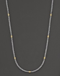 Lagos Sterling Silver Rope Necklace No Color