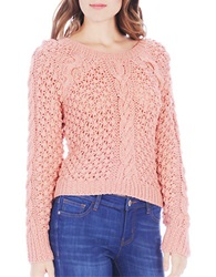 Buffalo David Bitton Ballard Chunky Cable Knit Sweater Peach