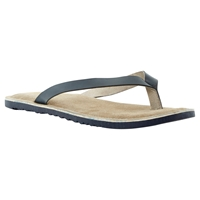 Bertie Franco Sporty Leather Flip Flops Navy
