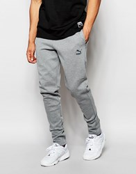 Puma Evolution Skinny Joggers Gray