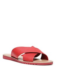 Franco Sarto Quentin Leather Slides Red