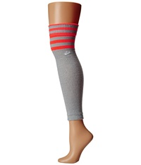 Nike Classic Leg Warmer Grey Heather Hot Lava White Knee High Socks Shoes Gray