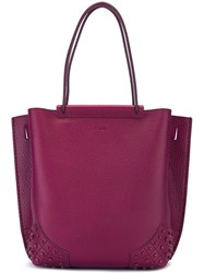Tod's 'Gommini' Tote Pink And Purple