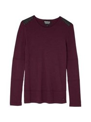 Barbour Farleigh Knitted Top Red