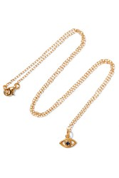 Ileana Makri Iam By Eye Gold Plated Cubic Zirconia Necklace