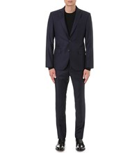 Hardy Amies Heddon Fit Wool Suit Navy