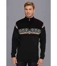 Dale Of Norway St. Moritz Masculine E Teer Vig Raspberry Black Off White Men's Sweater