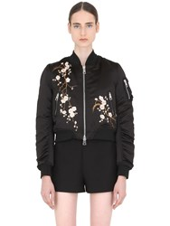 Ainea Floral Embroidered Bomber Jacket