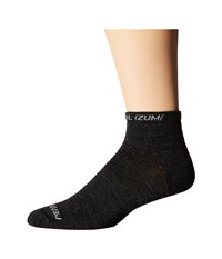 Pearl Izumi Elite Low Wool Sock Black Men's Crew Cut Socks Shoes