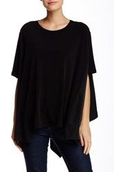 Planet Multi Panel Tunic Black