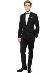 Dolce And Gabbana Stretch Wool Gold Fit Suit
