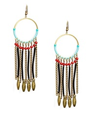 Robert Rose Fringe Chandelier Earrings Multi