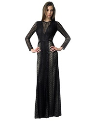 Basix Ii Beaded Maxi Dress Black Nude