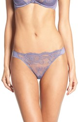 Wacoal Women's 'Vision' Floral Lace Thong Dove