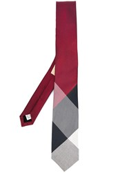 Burberry 'Modern Cut' Check Tie Red