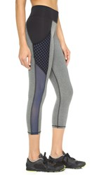 Michi Stardust Crop Leggings With Pockets Heather Grey