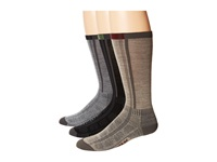 Wigwam Rebel Fusion Crew Ii 3 Pack Black Grey Khaki Crew Cut Socks Shoes Multi