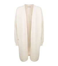 Vince Textured Long Cardigan Female White