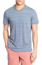 Men's Robert Barakett 'Genson' Raw Edge V Neck T Shirt Dusty Blue