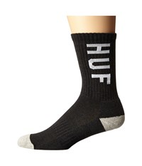 Huf Performance Crew Sock Charcoal Heather Crew Cut Socks Shoes Gray