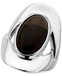 Nambe Smoky Quartz 7 1 2 Ct. T.W. Oval Ring In Sterling Silver Only At Macy's