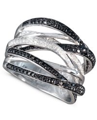 Effy Collection Caviar By Effy Black And White Diamond Ring 3 4 Ct. T.W. In 14K White Gold