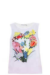 Mary Katrantzou Sepack Top White