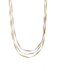 Marrakech Supreme Tricolor Three Strand Necklace 31.5' Yellow Marco Bicego