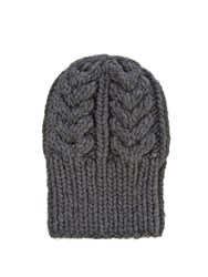 I Love Mr Mittens Cable Beanie Hat Charcoal