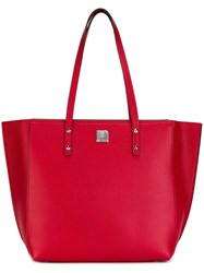 Mcm Large Tote Red