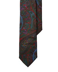 Polo Ralph Lauren Paisley Silk Twill Skinny Tie Red