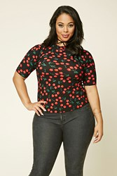 Forever 21 Plus Size Cherry Print Top
