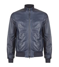 Pal Zileri Nappa Leather Bomber Jacket Male