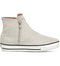 Converse Chuck Taylor All Stars High Line Canvas Trainers Frayed Burlap Egret