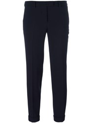 Alberto Biani Tapered Cropped Trousers Blue