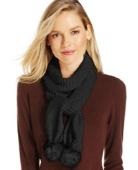 Charter Club Chenille Pom Pom Scarf Only At Macy's