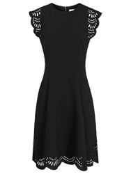 Reiss Kathy Fit And Flare Dress Black