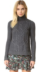 Veronica Beard Ouija Turtleneck Sweater Charcoal