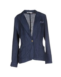 0039 Italy Suits And Jackets Blazers Women Blue